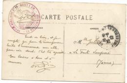 SEINE ET MARNE CARTE MORET S LOING 1917 CACHET ROUGE HOPITAL AUXILIAIRE N°26 MORET S M LE MEDECIN CHEF - Marcophilie (Lettres)