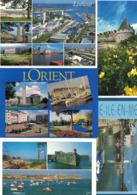 LOT DE 5 CARTES POSTALES DE BRETAGNE DU MORBIHAN LORIENT BELLE-ILI-EN-MER PONTIVY LA RADE DE LORIENT - France