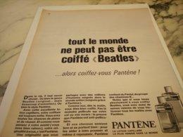 ANCIENNE  PUBLICITE ETRE COIFFE BEATLES DE PANTENE 1966 - Perfume & Beauty