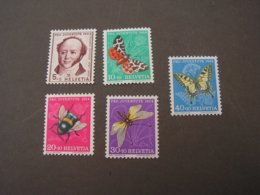 Schmeterlinge , Pro Juventute 1954  ** MNH  602-606  €  13,00 - Suisse