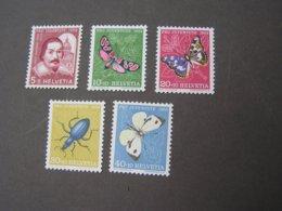 Schmeterlinge , Pro Juventute 1956  ** MNH  632-636  €  9,00 - Suisse