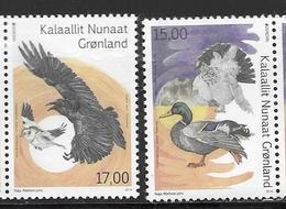 GREENLAND, 2019, MNH,EUROPA, BIRDS, DUCKS,2v - 2019