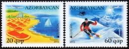 CEPT / Europa 2012 Azerbaïdjan N° 783 Et 784 ** Tourisme - 2012
