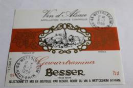 Etiquette Neuve Vin D Alsace  Gewurztraminer  Besser 13o - Gewurztraminer