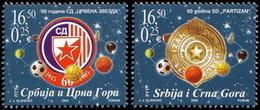 "Serbia And Montenegro, 2005, Red Star And ""Partizan"", Set, MNH, Mi# 3277/78, Sc# 301/02 - Serbie"