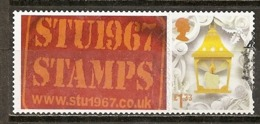Grande-Bretagne Great Britain Noel Christmas 1.33p With Label Obl - 1952-.... (Elizabeth II)