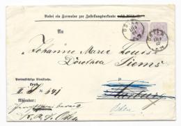 DR Brief MeF Krone/Adler Mi.40 Osten 1882 Nach Harrburg - Germany