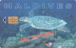 MALDIVES - Save The Turtle!, CN : 227MLDGIA, Used - Maldive