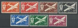 SAINT PIERRE ET MIQUELON 1942 . Poste Aérienne  .Série N°s 4 à 10 .  Neufs ** (MNH). - Unused Stamps