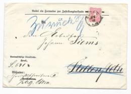 DR Brief EF Krone/Adler Mi.41 Osten 1882 Bach Freiburg In Hannover - Deutschland