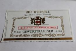 Etiquette Neuve Vin D Alsace  Gewurztraminer  14o Selection De Grains Nobles Andre Wetzel Meyer - Gewurztraminer