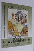 Etiquette Neuve Vin D Alsace  Gewurztraminer  13o Fernand Ehrhart - Gewurztraminer