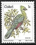 Ciskei (South Africa) - MNH - 1981 - Knysna Turaco    Tauraco Corythaix - Cuckoos & Turacos