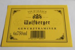 Etiquette Neuve Vin D Alsace  Gewurztraminer   Wolfberger - Gewurztraminer