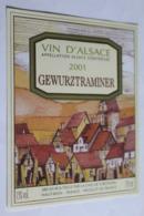 Etiquette Neuve Vin D Alsace  Gewurztraminer   2001 Cave De Turckheim  13o - Gewurztraminer