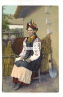 Ukraine, Russia - Peasant Woman In Traditional Costume - Old Postcard - Ukraine