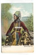 Kabardinerin - Woman Wearing Local Costume - Old Russia Postcard - Rusland