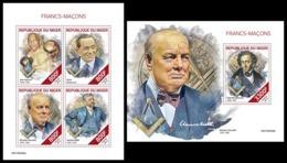 NIGER 2019 - Freemasons, M/S + S/S. Official Issue [NIG190409] - Freemasonry