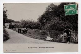 - CPA EVECQUEMONT (78) - Route De Tessancourt (avec Personnages) - Edition Bourgeois - - France