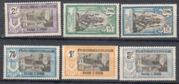 Inde French India Mh * Best From 1914 Set 25 Euros - Indien (1892-1954)