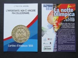Giochi Olimpici Invernali Torino 2006, Notte Olimpica, Medaglia, Freecard + Promocard 6123 (13bis) - Giochi Olimpici