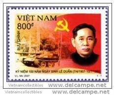 Vietnam Viet Nam MNH Perf Withdrawn Stamp 2007 : Birth Centenary Anniversary Of Le Duan (Ms960) - Vietnam