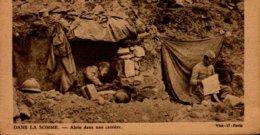 DANS LA SOMME...ABRIS DANS UNE CARRIERE...CPA ANIMEE  PUB AU DOS LA LESSIVE AUX IMAGES - War 1914-18