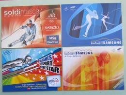 Giochi Olimpici Invernali Torino 2006, Logo + 3sponsor, 4 Cartoline (79) - Giochi Olimpici
