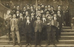 Carte Photo Conscrits  1925 Accordeon SUZE  RV - Photographs