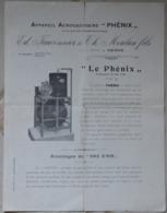 Herve Dépliant De La Maison Fauconnier Phénix (4 Pages) - Décès