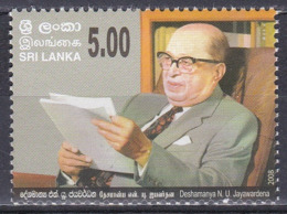 Sri Lanka 2008 Persönlichkeiten Politik Bankwesen Wirtschaft Deshamanya Neville Ubeysinghe Jayawardena, Mi. 1687 ** - Sri Lanka (Ceylon) (1948-...)