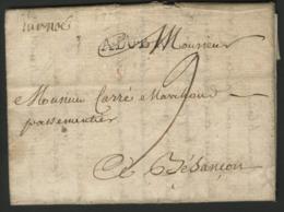 1758 GUERRE DE SEPT ANS, Lettre Datée Du Camp De Dortmund, écrite Par Le Commandant De Régiment Le Marquis De Noé. - Marcofilia (sobres)
