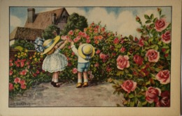 Illustrator A. Bertiglia // Childern In Rose Garden (edizioni D Arte 2259)19?? - Bertiglia, A.