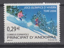 Andorra, Spanish 15.02.2006 Mi # 329 Torino Winter Olympics MNH OG - Winter 2006: Torino