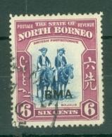 North Borneo: 1945   Pictorial 'B.M.A.' OVPT    SG324   6c    Used - North Borneo (...-1963)