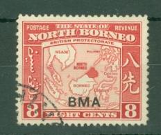 North Borneo: 1945   Pictorial 'B.M.A.' OVPT    SG325   8c    Used - North Borneo (...-1963)
