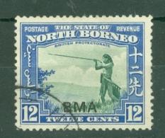 North Borneo: 1945   Pictorial 'B.M.A.' OVPT    SG327   12c  Green & Blue  Used - North Borneo (...-1963)