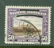 North Borneo: 1947   Pictorial 'Obliterating Bars' OVPT    SG346   50c    Used - North Borneo (...-1963)