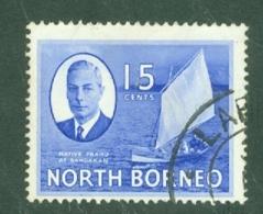 North Borneo: 1950/52   KGVI - Pictorial    SG363   15c    Used - Borneo Del Nord (...-1963)