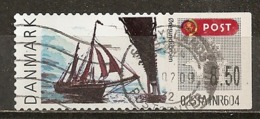 Danemark Denmark Labels Avec Bateau Pont Ship Bridge Obl - Vignette Di Affrancatura (ATM/Frama)