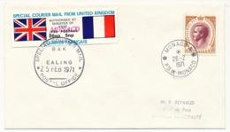 """MONACO - GREVE 25 Février 1971 Angleterre...Destination Monaco """"Hôtel De Paris"""" Arrivée 26/2/1971 - Mónaco"""