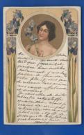 Carte Arts Nouveaux   Jeune Femme Et Fleurs - Künstlerkarten