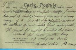 Poli119 Peu Commun Lisez ! JULES GUESDE Jules Bazile 1845-1922 Photo G. RICHARD 1920s Edition HUMANITE PARTI SOCIALISTE - Personnages