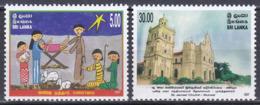 Sri Lanka 2007 Religion Christentum Weihnachten Christmas Krippen Cribs Bauwerke Kirchen Churches, Mi. 1673-4 ** - Sri Lanka (Ceylon) (1948-...)