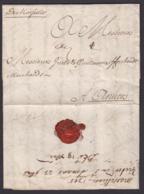 """FRANCE LETTRE DATE DE 1705 MAN""""DE MARSEILLE"""" VERS ANVERS (DE) DC-4144 - Marcofilia (sobres)"""