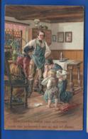 Carte En Relief Famille Faisant Leur Prière      Pardonnez Nous .....   écrite En 1908 - Other