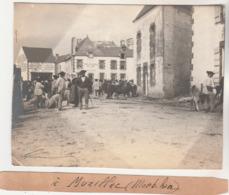 56 :  Muzillac Photographie Originale D'amateur    Septembre1903 ( Jour De Marché ) - Lugares