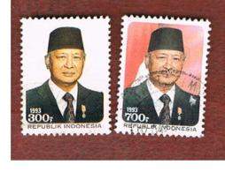 INDONESIA   - SG 2101.2102  -  1993  PRESIDENT SUHARTO  - USED ° - Indonesia