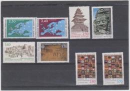 FRANCE 8 T Neufs Xx Service UNESCO N°YT 106-113 - 1991-1994 - Officials