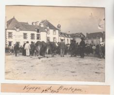 56 :  Muzillac Photographie Originale D'amateur   ( 1903 ) Jour De Marché - Lugares